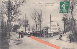 23 GUERET-Jonction Des Routes De Ste-Feyre Et D'Ajain (Creuse)-Pub Gd BAZAR-Edit.A. De NUSSAC-Belle OBLITERATION Dos - Guéret