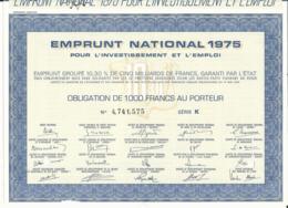 LOT DE  2 OBLIGATIONS - EMPRUNT NATIONAL 1975 Et 1977 - Non Classés