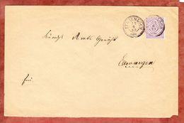 Brief, EF Ziffer, Pflaumloch Nach Ellwangen 1889 (59109) - Wurttemberg