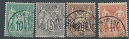 "CG-67: FRANCE: Lot ""SAGE N/B"" Avec N°65-66-67-70 - 1876-1878 Sage (Typ I)"