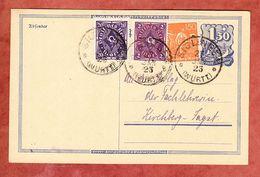 P 148 Postreiter + ZF, Siglingen Nach Kirchberg 1923 (59110) - Deutschland