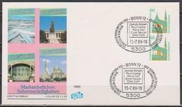 BRD FDC 1989 Nr.1406 C+D Senkrechtes Paar Sehenswürdigkeiten  (d 618)  Günstige Versandkosten - [7] República Federal