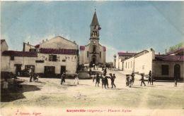 CPA Geiser 3 Guyotville Place Et Eglise ALGERIE (755352) - Other Cities