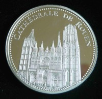 CATHEDRALE DE ROUEN LES PLUS BEAUX TRESORS DU PATRIMOINE DE FRANCE MEDAILLE  JETON TOURISTIQUE - Tourist