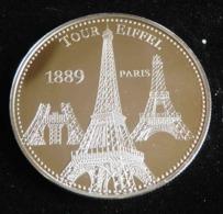 TOUR EIFFEL 1889 PARIS LES PLUS BEAUX TRESORS DU PATRIMOINE DE FRANCE MEDAILLE JETON TOURISTIQUE - Tourist