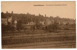 Court-St-Etienne, Environs De La Chaussée Provinciale , Circ. En 1948 - Edit. Jadot-Vanderbeck - 2 Scans - Court-Saint-Etienne