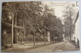 Court-St-Etienne, Route Provinciale, Circulée En 1929 - Court-Saint-Etienne