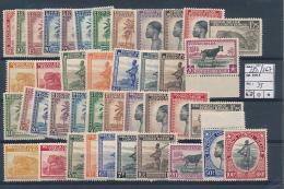 CONGO BELGE COB 228/267 MNH - Belgisch-Kongo