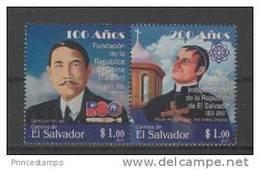 Salvador (2011) Yv. 1820/21  /  China Republic Foundation - Taiwan Foundation - Salvador