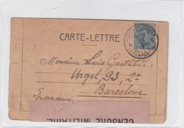ENVELOPPE CIRCULEE BELGIUM TO SPAIN 1930 OPENED BY CENSURE- BLEUP - Belgio