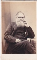 ANTIQUE CDV PHOTO - SEATED BEARDED MAN. LONDON STUDIO - Photographs
