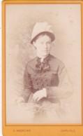 ANTIQUE CDV PHOTO - LADY WEARING HAT.  CARLISLE  STUDIO - Photographs