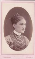 ANTIQUE CDV PHOTO -LADY -HAIR STYLE/JEWELLERY.  CARLISLE  STUDIO - Photographs