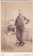 ANTIQUE CDV PHOTO -COUPLE. BEARDED MAN. EDINBURGH STUDIO - Photographs