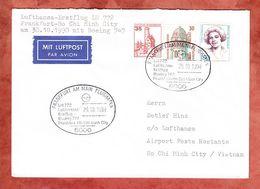 Lufthansa-Erstflug LH 772, Frankfurt Nach Ho Chi Minh City, 30.10.1990 (59122) - Airplanes