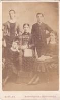 ANTIQUE CDV PHOTO -FAMILY GROUP OF 5. WARRINGTON STUDIO - Photographs