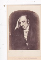 ANTIQUE CDV PHOTO -MAN WITH HEAD IN HIS HANDS. ART?  LEOMINSTER  STUDIO - Photographs