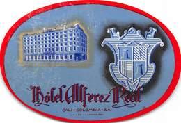 PIE-H-18-6245 : ETIQUETTE D'HOTEL. HOTEL AUFEREZ REAL CALI-COLOMBIA - Hotel Labels