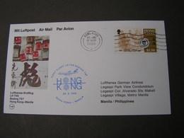 HK First Flight Card LH 1988 - Hong Kong (...-1997)