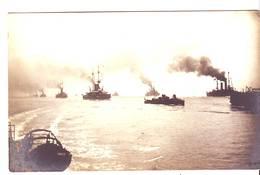 Cp Photo  Flottenmanover  1914 - Boats