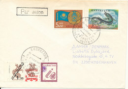 Kazakhstan Cover Sent Air Mail To Denmark 13-11-1995 Topic Stamps - Kazakhstan