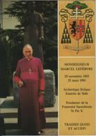 Monseigneur Marcel Lefebvre - Econe/Riddes - VD Vaud
