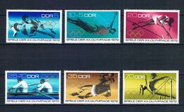 ALEMANIA ORIENTAL 1972 - DDR - JJOO DE MUNICH 72 - YVERT Nº 1440/1445** - High Diving