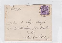 ENVELOPPE CIRCULEE COIMBRA TO LISBOA, PORTUGAL 1889- BLEUP - Cartas