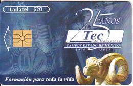 MEXICO - 25 Anos TEC De Monterey, Chip GEM1.1, Used - Mexico