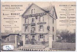 BESANCON- HOTEL MODERNE- ALBERT MONIOT - Besancon