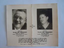 Doodsprentje Image Mortuaire Oswald Van Lantschoot Docteur Paule Rickx Décédée Accidentellement à Corbais 1967 - Devotion Images