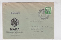 MAFA PRAZIS ENVELOPPE CIRCULEE GERMANY TO ARGENTINE 1954- BLEUP - Cartas