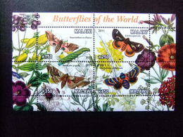 MALAWI Ex Nyassaland 2011 Fauna Butterflies Papillons Mariposas Yvert Bloc  ** MNH - Malawi (1964-...)