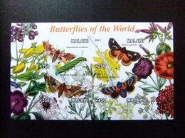 MALAWI Ex Nyassaland 2011 Fauna Butterflies Papillons Mariposas Yvert Bloc  Sin Dentar ** MNH - Malawi (1964-...)