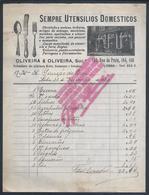 Invoice Of Oliveira & Oliveira 1920.Christofle And Metaes.Cutlery.Talheres E Louça De Ferro Inglêz.3 Selos Recibo $01.2s - Portugal