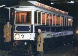 ISLE OF MAN. Manx Electric Railway Tramcar No. 7 - Douglas & Laxley Electric Tramway (train, Tren, Eisenbahn, Spoorweg) - Postales