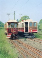 ISLE OF MAN. Manx Electric Railway Tramcar Nos. 1 & 22 (train, Tren, Eisenbahn, Spoorweg) - Postales