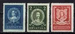 Kroatien 1943 // Mi. 103/105 * (029..872) - Kroatien