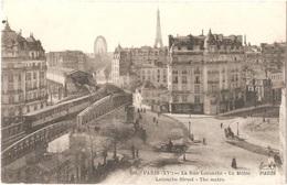 Dépt 75 - PARIS (15è Arr.) - La Rue Lecourbe - Le Métro - F. Fleury, Photo. Imp. édit., Paris N° 101 - Arrondissement: 15