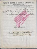 Fatura Da Florista De Março De 1921. Fatura Com 2 Selo De Imposto De Selo De $01. - Portugal