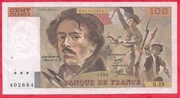 """100 Francs """"Delacroix"""" 1980 Série H.23 ---VG/SUP - 1962-1997 ''Francs''"""