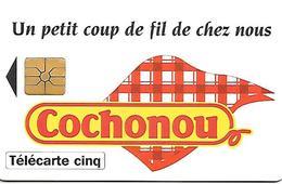 CARTE-PRIVEE-5U-03/95-GN132-GEMA-COCHONOU TORCHON-UTILISEE-TBE LUXE - France