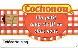 CARTE-PRIVEE-5U-03/95-GN131-GEMA-COCHONOU TORCHON-UTILISEE-TBE LUXE - France