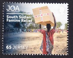 SOUTH SUDAN Famine Relief On 2018 JERSEY Stamp Südsudan Soudan Du Sud - Zuid-Soedan