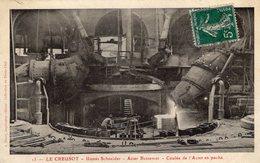 Establissements Schneider Et Cie - Le Creusot -  Acier Bessemer - Coulée De L'Acier En Poche  - CPA - Guerra 1914-18