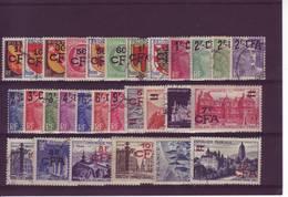 REUNION 1ERE SERIE SURCHARGE CFA  N° 281 / 306  1949 - Reunion Island (1852-1975)