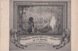 Bs - Cpa Guerre 14-18, Association Des Veuves, Mutilés Et Orphelins De La Guerre - Guerre 1914-18