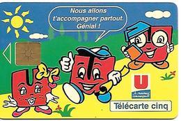 CARTE-PRIVEE-5U-Gn166-GEMB-07/95-SUPER U-NEUVE-TBE  - - France