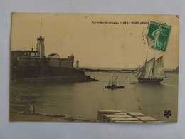 C.P.A. : 66 PORT VENDRES N° 352 Le Phare Voilier, Timbre En 1907 - Port Vendres