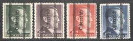 1945 Hitler Grazer-Aufdruck  MiNr 693 I- 696 I *  Gez. 14 - 1945-.... 2nd Republic